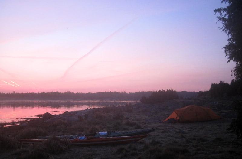 Tidig morgon på Ljungskär
