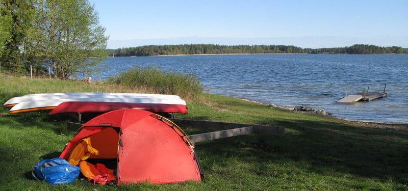 Tältplats vid Norråva