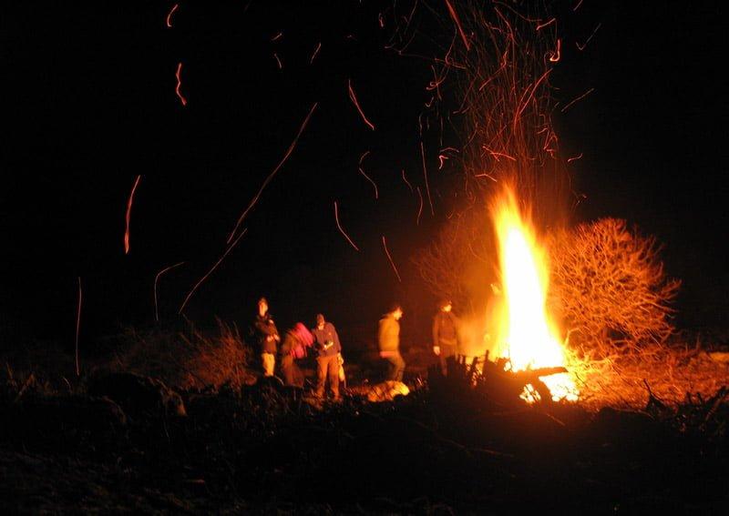 Stor eld på Valö - White man fire ;-)