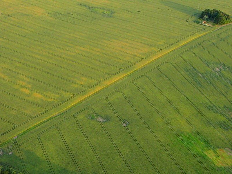 Blir roliga och fina mönster med vägar, stigar, gårdar, traktorspår, skuggor osv...