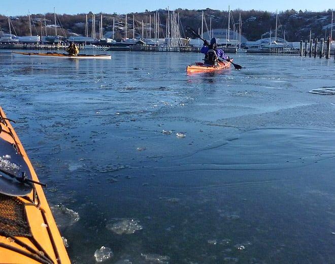 Lite is inne vid bryggan på GKF