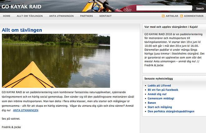 Go Kayak Raid