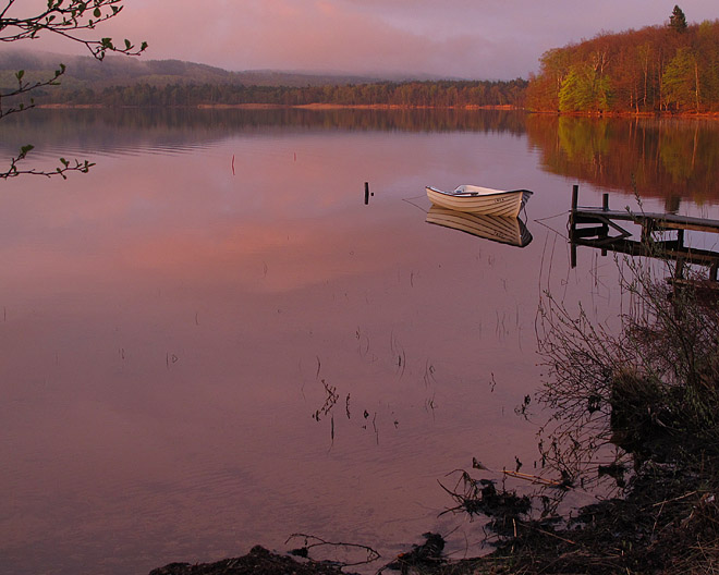 Båtplatsen i sydöstra delen av Västersjön