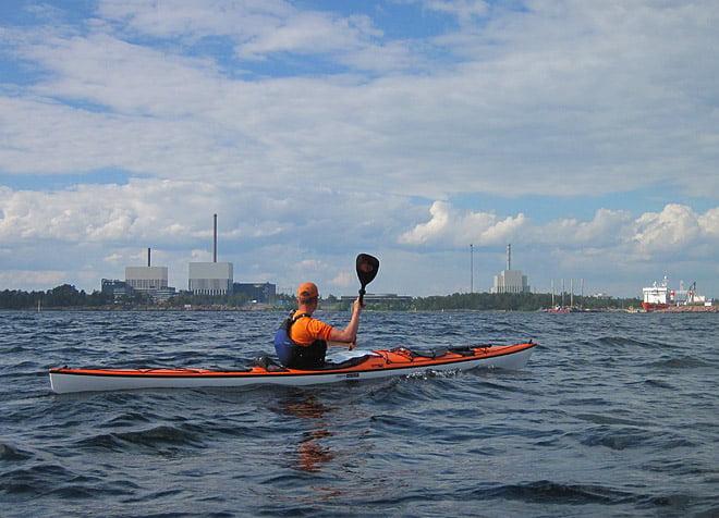 Simpevarps kärnkraftverk norr om Oskarshamn och söder om Misterhult