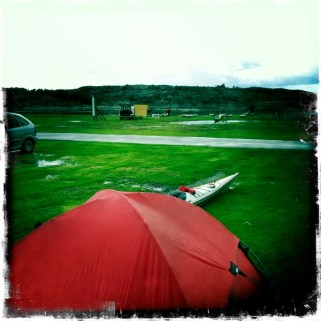 Blött och ganska tomt på camping fredag lunch