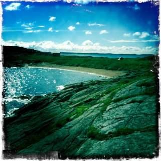 Strand på Slubbersholmen