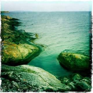 Badvik på Valö - fortfarande helt okej temperatur i vattnet