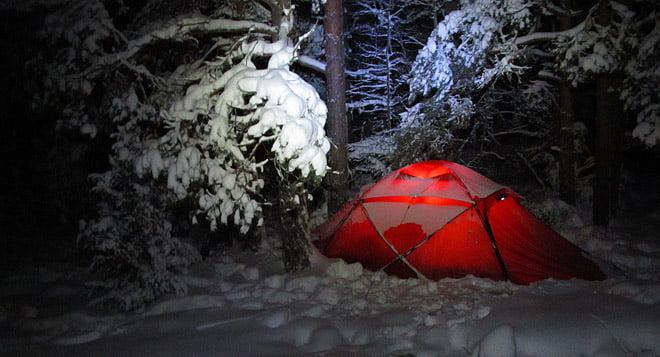 Kväll på Lilla Bergö. Första advent förra året