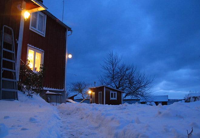 Kvällsljus på Örö