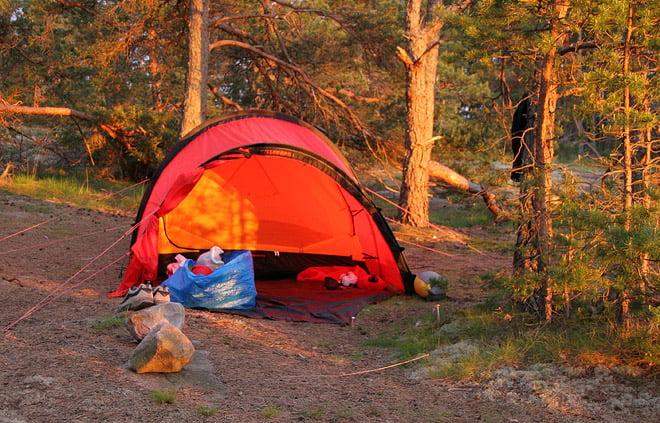 Finns tältplatser med mjukt underlag också