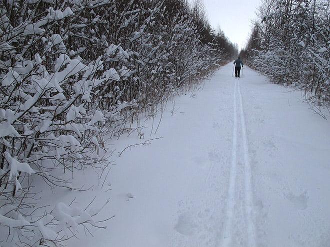 På väg ner mot Äspenäs och Västersjön