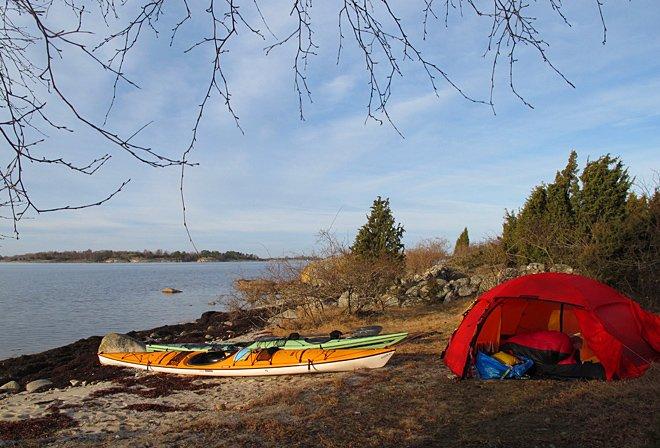 Skön morgon på sydsidan av Östra Bokö