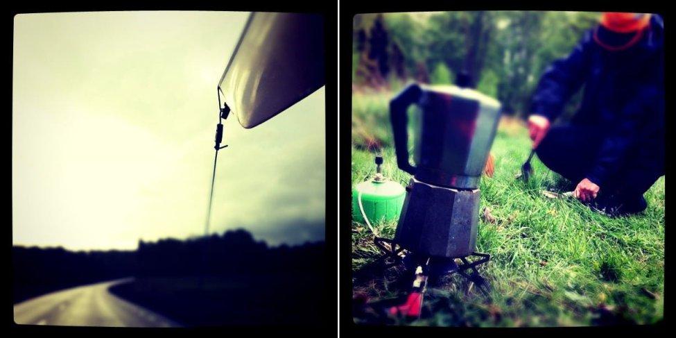 Kajaktransport | Morgonkaffe