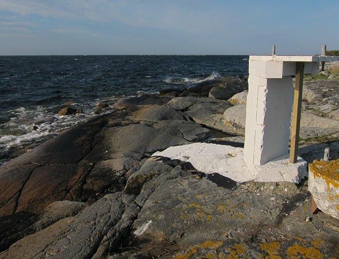 Nymålat sjömärke på Ljungskär