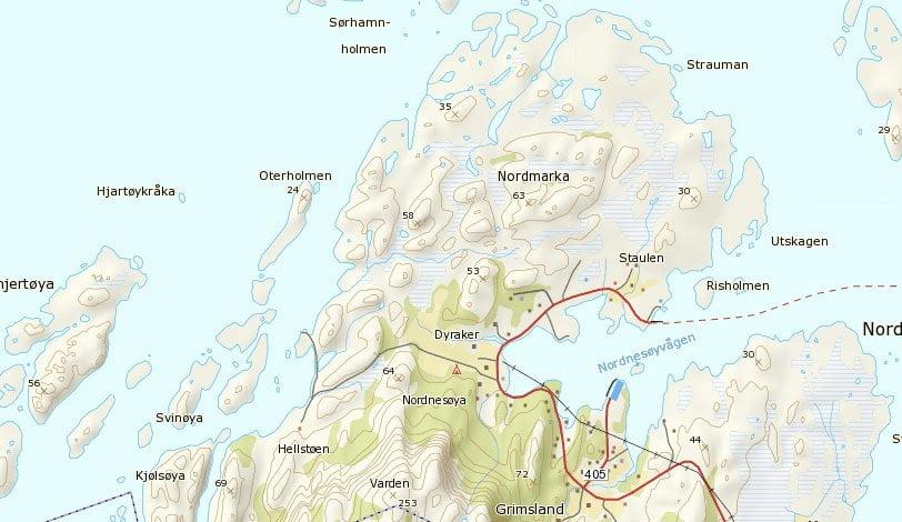Bit av Nesøya på Helgelandskusten