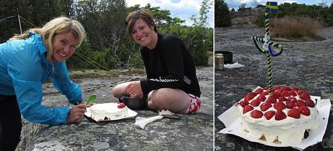 Tårtmakarna Gunnel & Marie   Den färdiga tårtan
