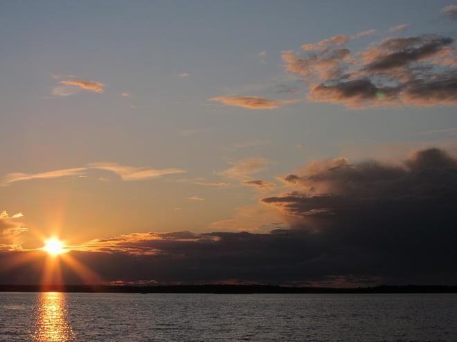 Fin solnedgång