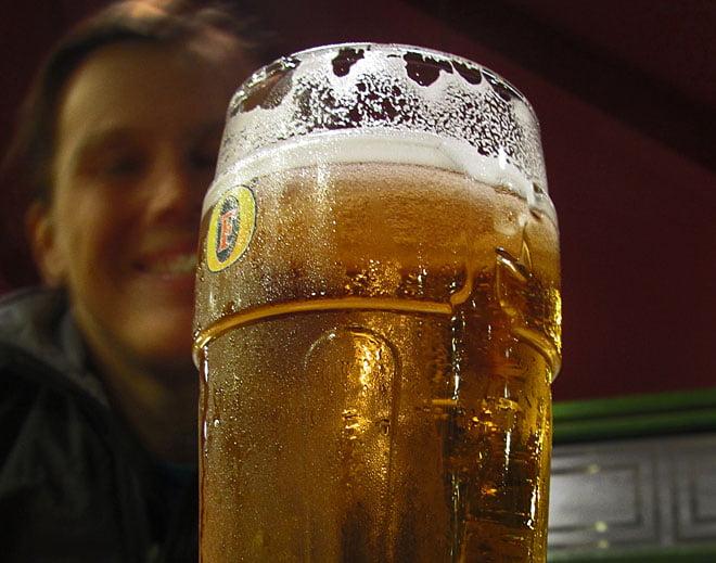 Avslutade kvällen på puben