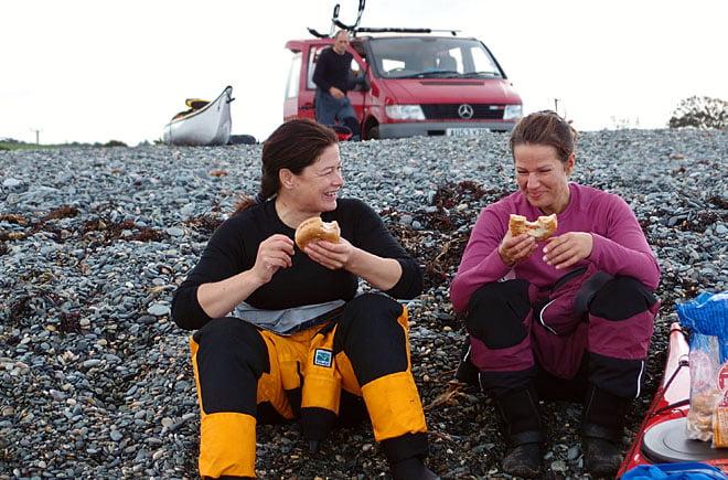 Vi började vår överfart vid lunchtid, så det var lika bra att grunda med lite mat. Bagels med stekt ägg. Mums!