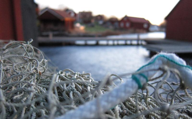 Morgonljus över fiskeläget