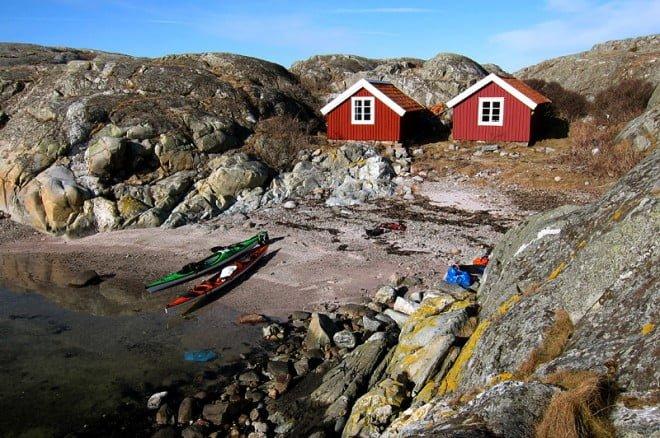 Lunchpaus på Hamnerö