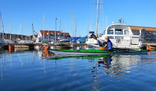 Pia har precis sjösatt i Hamburgsund. Hårt vinterväder.