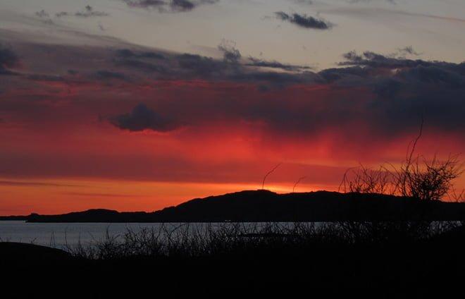 Solnedgång över Kungsö och Tornö