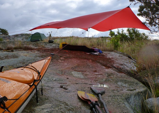 Tarp på Östra Kålskar, hem för 4 havsörnar upptäckte vi