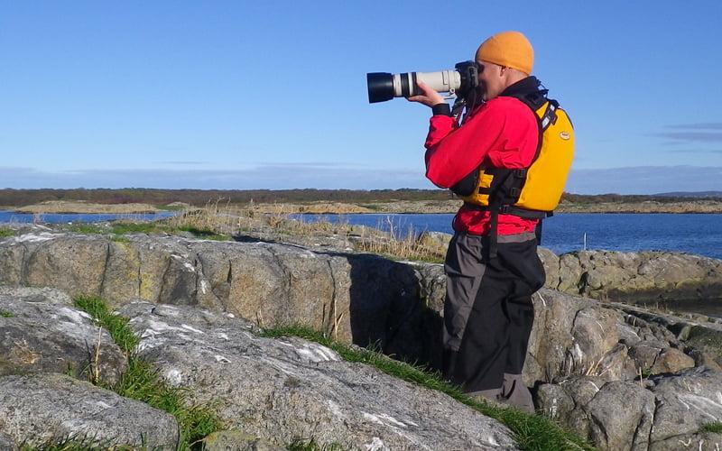 Kokatat Lightweight Paddling suit på utflykt till Hallands väderö