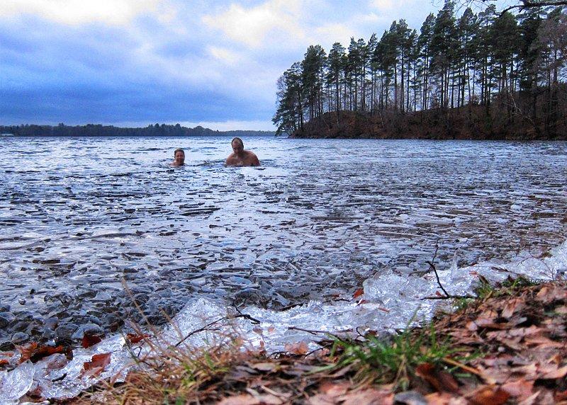 vinterbad i rössjön