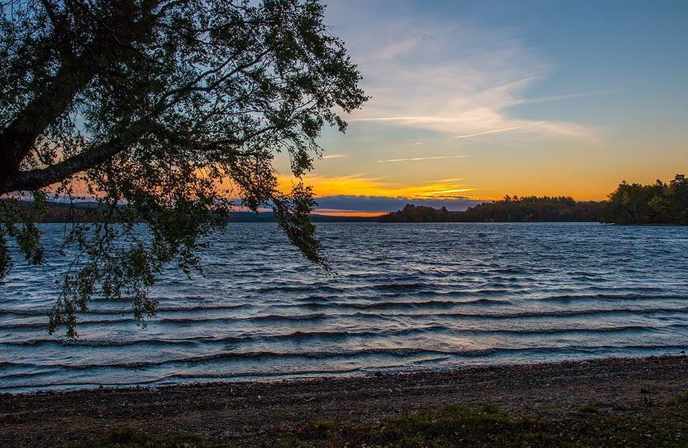 Soluppgång vid Rössjön