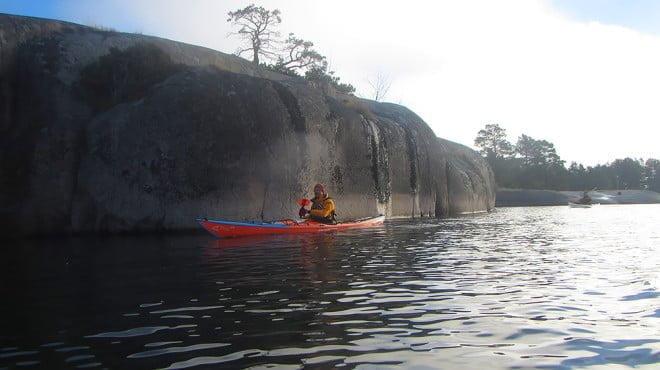 Många fina klippor att glida längsmed