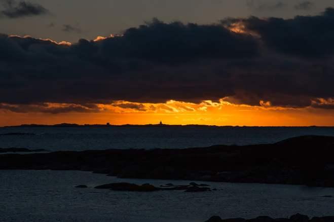 Solnedgång mot Tistlarna