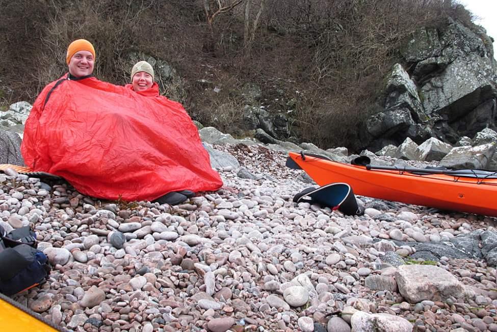 Vindsäck på en av Kullabergs fina stränder en sval januaridag