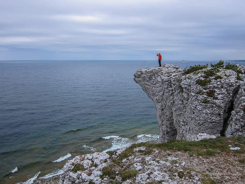 Högaklint söder om Visby