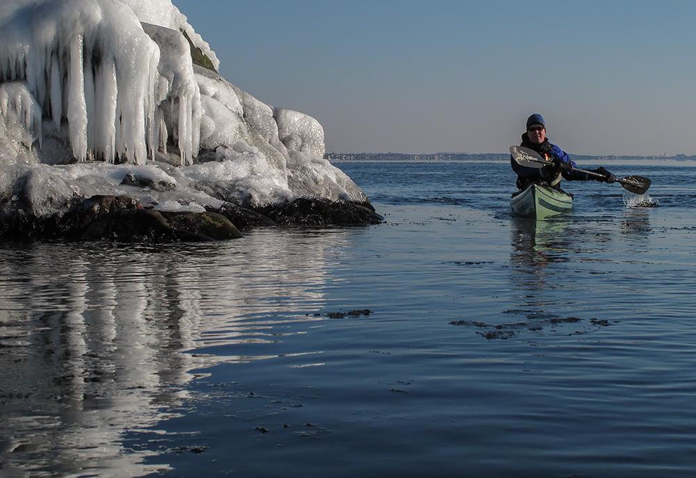 Lite is på Kullabergs klippor