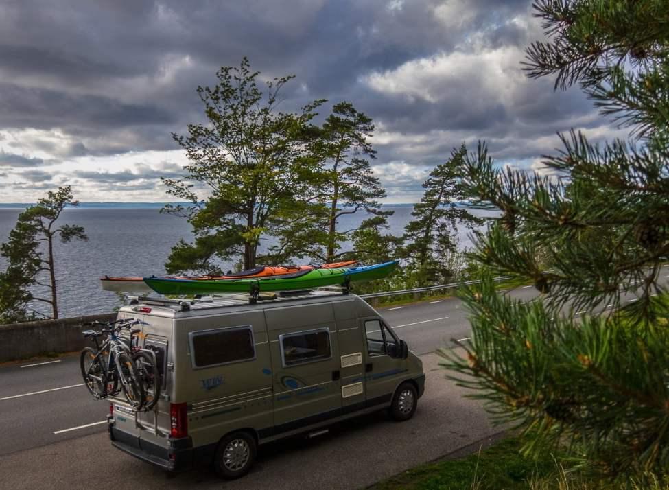 Winzent längs Vättern, på väg mot Höga Kusten, Abisko och Lofoten