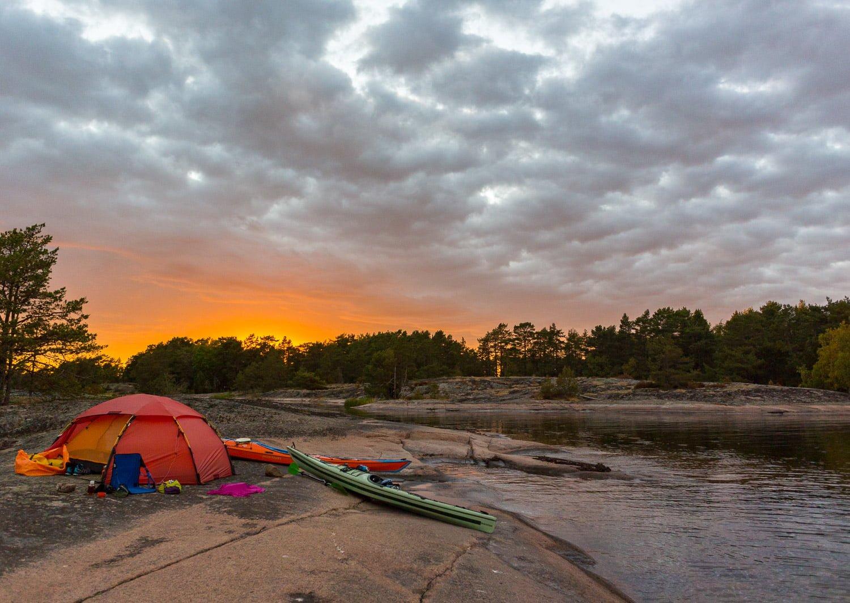 Go solnedgång på Långeholmen