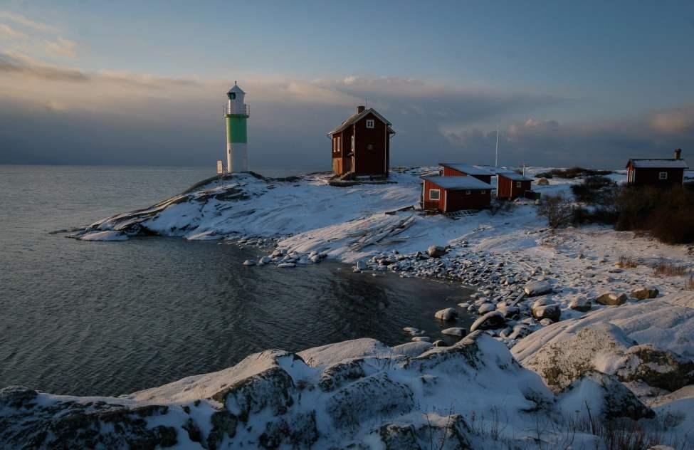 Vintermorgon på Valö