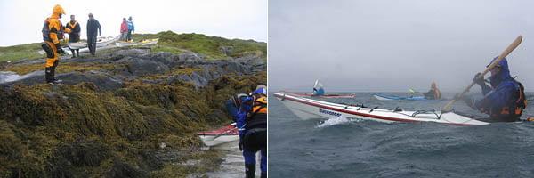 Sjösättning från Bessvær vid lågvatten, 1,5m lägre vatten än när vi kom kvällen innan   Lite regn och rusk