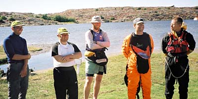 Från Vänster: Tommy - observatör, Håkan - examinatör, Stefan - examinatör, Mårten - instruktör och Daniel - instruktör.