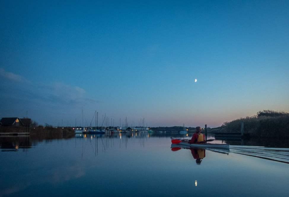Lite månljus på Rönneå