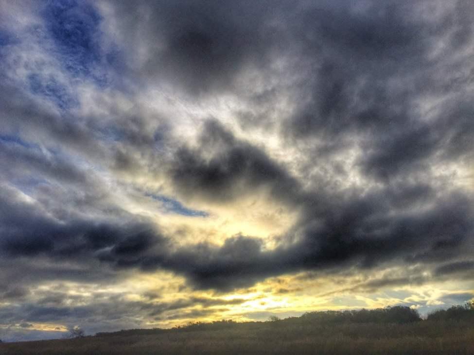 Kool himmel ut över Skälderviken