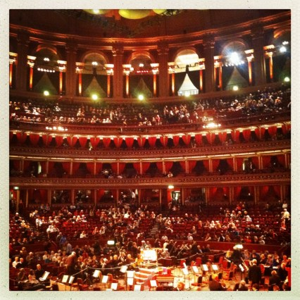 London, Royal Albert Hall. November 2014