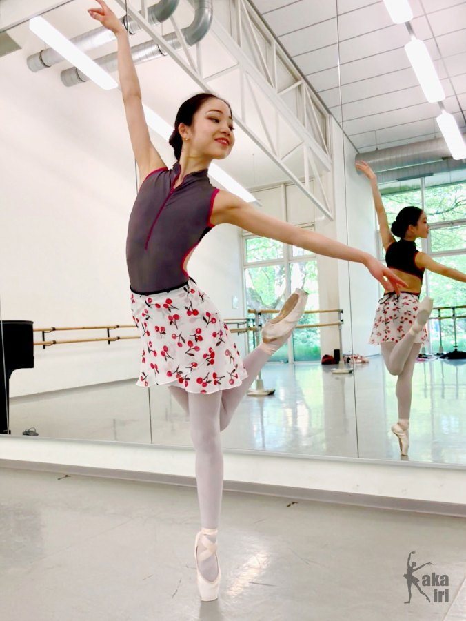 "Ballett-Wickelrock ""Sweet Cherries"" kakakiri handgenäht"