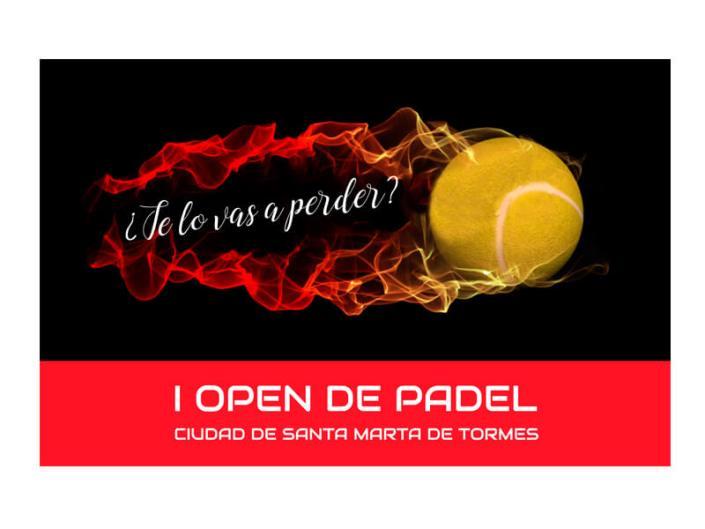 Cartel I Open de Padel Santa Marta de Tormes