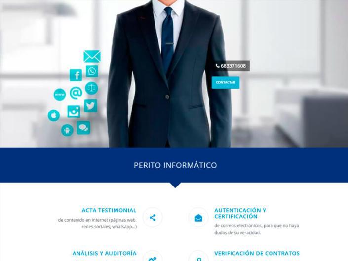 Página web Perito informático Salamanca