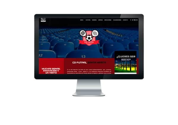 Página web CD Futpal Santa Marta