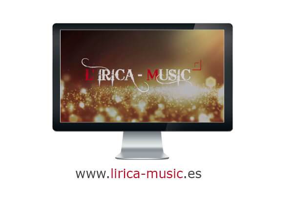 Página web lírica music
