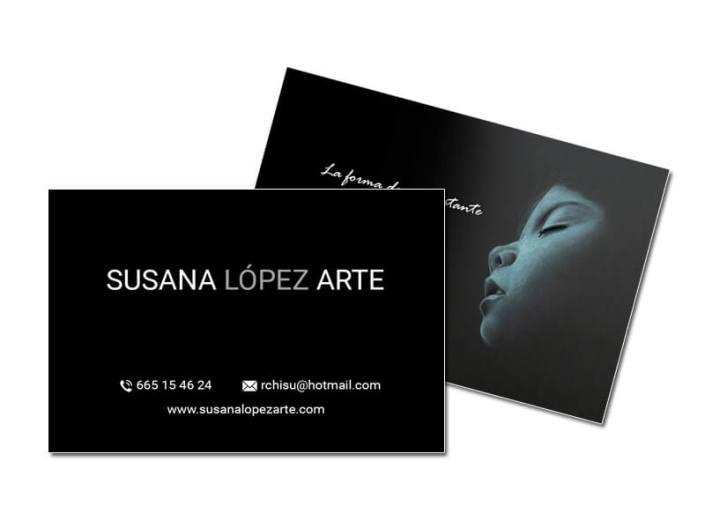 Tarjetas de Visita Susana López Arte